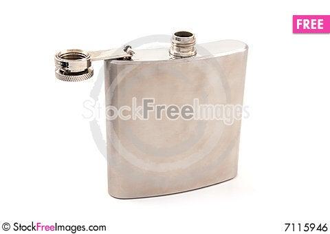 Hip Flask Stock Photo
