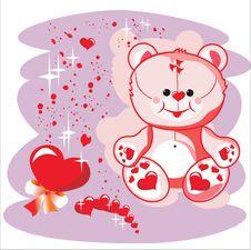 Free Valentin Bear Royalty Free Stock Photo - 7131495