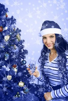 Free Christmas Blue Royalty Free Stock Photo - 7139265
