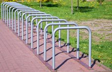 Parking Space For Bicycles Stock Images