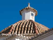Free Ibiza Church Rooftop And Tower Stock Photos - 7158843