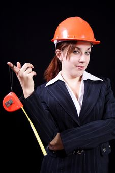 Free Girl The Builder Royalty Free Stock Image - 7168776