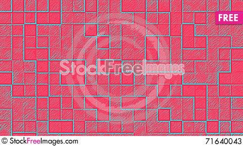 Free Colorful Artistic Tetris Cubes Background Stock Photos - 71640043
