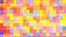 Colorful Artistic Mosaic Cubes Background Stock Photo