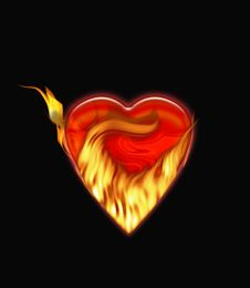 Free Heart In Fire Stock Images - 7177184