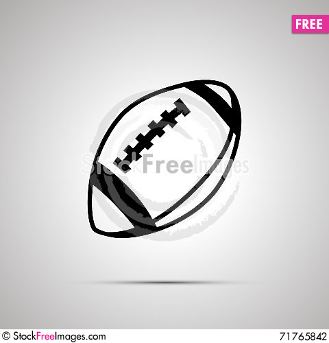 Free Rugby Ball Simple Black Icon Stock Photography - 71765842
