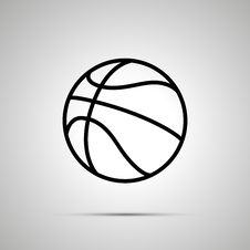 Free Basketball Ball Simple Black Icon Stock Image - 71797241