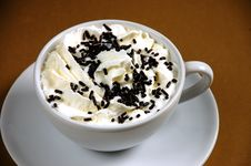 Free Hot Cocoa With Whipped Cream Royalty Free Stock Image - 7185896