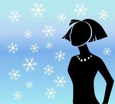 Free Winter Snowflakes Silhouette Stock Image - 7188051
