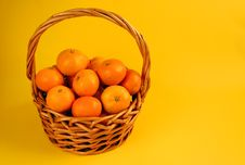 Free Basket Of Oranges Royalty Free Stock Photo - 7195495
