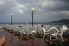 Free Deck Chairs On Cruise Ship Stock Photo - 720140