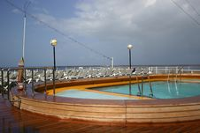 Free Swimming Pool On Cruise Ship Royalty Free Stock Images - 720169