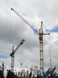 Free Cranes Royalty Free Stock Image - 722376