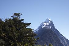 Free Mitre Peak Zoomed Stock Photo - 722400
