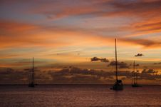Free Golden Caribbean Sunset Cruise Stock Photos - 723833