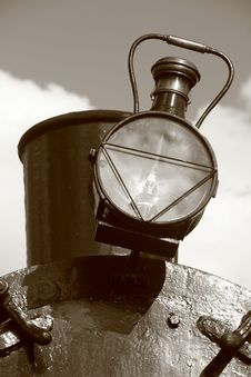 Steam Train Lamp Stock Images