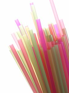Free Colorful Straws Stock Photography - 725342