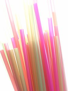 Free Colorful Straws Royalty Free Stock Photo - 725375