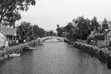Free Venice, Ca In Black And White Royalty Free Stock Photography - 726617
