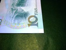 Free Chinese Currency:10 Yuan(Close-up,horizontal) Stock Photography - 726742
