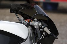 Free Racing Motorbike Detail Stock Photography - 726782