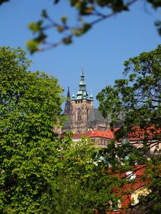 Free Prague Castle - Spring View From Charles Bridge Royalty Free Stock Photography - 727017