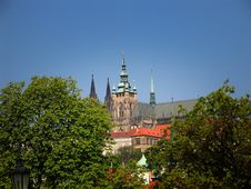 Free Prague Castle - Spring View From Charles Bridge Stock Photo - 727030