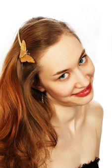 Free Young Beauty Girl Portrait Stock Photography - 727492