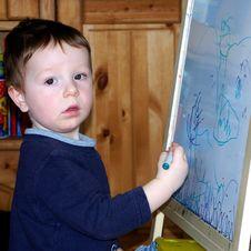 Free Little Artist Royalty Free Stock Photos - 727508