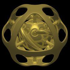 Free Globe Of Gold Stock Photo - 727990
