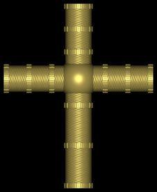 Free Golden Cross 002 Royalty Free Stock Photo - 728005