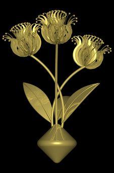 Free Golden Flower 001 Stock Images - 728024