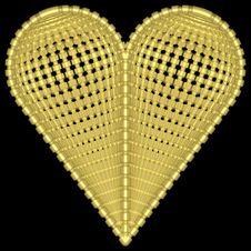 Free Golden Heart 005 Stock Photo - 728040