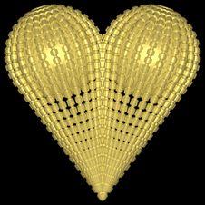 Free Golden Heart 006 Stock Image - 728041