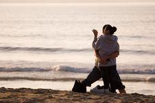 Free Happy Hispanic Couple On Beach Stock Images - 729564