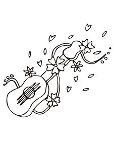 Guitar Sketch Royalty Free Stock Photography