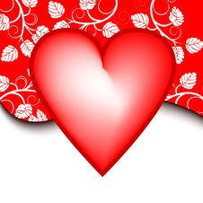 Free Valentines Day Background With Heart Stock Photography - 7217772
