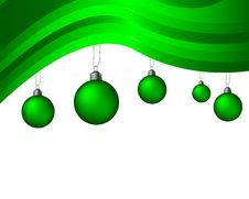 Free Green Striped Christmas Background Royalty Free Stock Image - 7229046