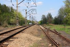 Two Railway Tracks Royalty Free Stock Images