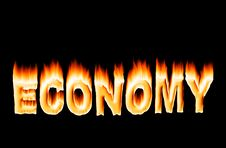 Burning Economy Royalty Free Stock Photography