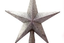 Free A Beautiful Silver Star Isolated Stock Photos - 7246553