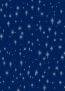 Free Glittering Stars On A Dark Rich Blue Background Stock Photos - 7249133