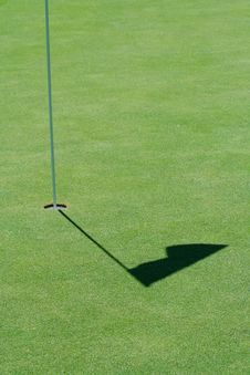 Free Golf Green Flag Shadow Royalty Free Stock Images - 7263309