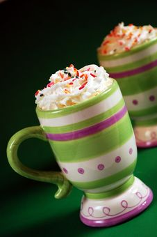 Free Striped Mug Of Hot Cocoa Royalty Free Stock Photography - 7269897