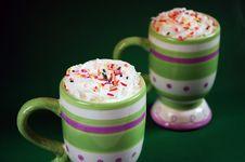 Free Striped Mugs Of Hot Cocoa Stock Image - 7269901