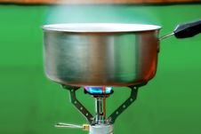 Free Steel Pot On A Gas Royalty Free Stock Image - 7287106