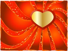 Free Red Background With Heart Royalty Free Stock Photos - 7287908
