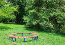 Free Two Benches In The Park Royalty Free Stock Photo - 72854215