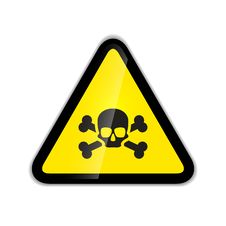 Free Skull And Bones Warning Sign Modern Icon With Shadow Isolated On White Stock Photography - 72943072