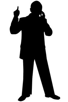Free Black Silhouette Man On White Stock Photography - 730902